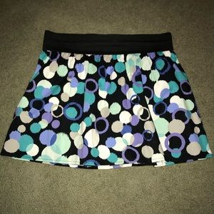 HeartSoul Skirt black with blue and white dots